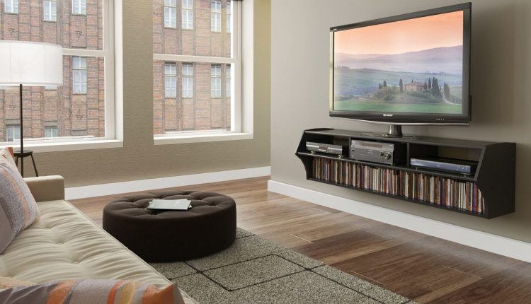 Living Room with TV Wall Mount